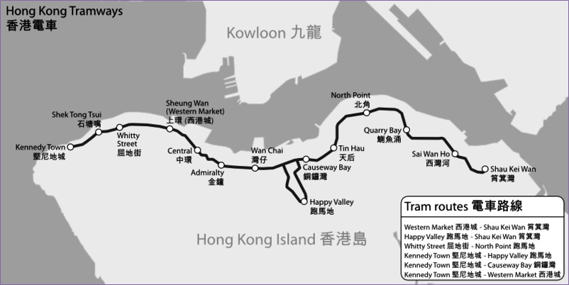 HKT Route map