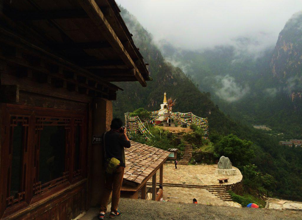 Au sud des nuages Balagezong la Stupa