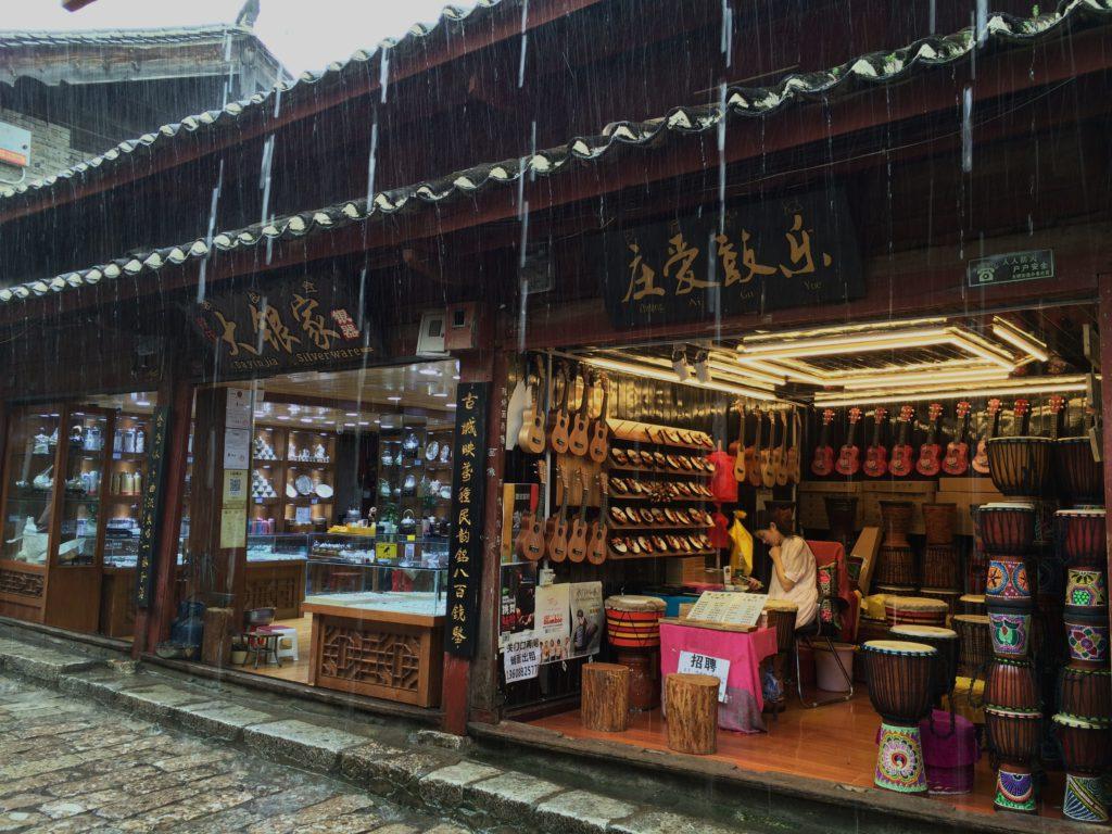 Au sud des nuages Lijiang sous la pluie